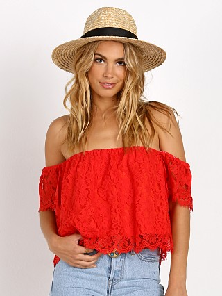 Show Me Your Mumu Ella Top Spring Fling Blood Orange
