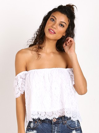 Show Me Your Mumu Ella Top Spring Fling White Snow