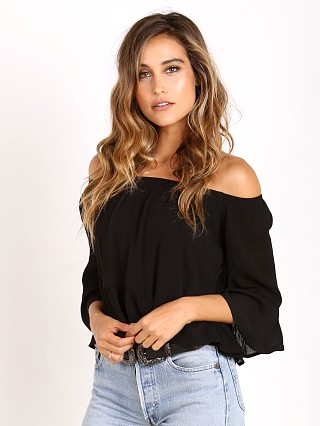 Show Me Your Mumu Shirley Ruffle Top Black