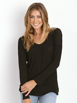 Splendid Drapey Lux U-Neck Tunic Black