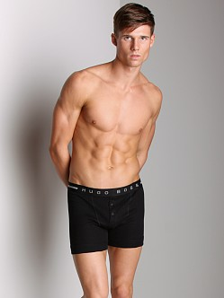 BOSS Hugo Boss Pure Cotton Rib Boxer Black