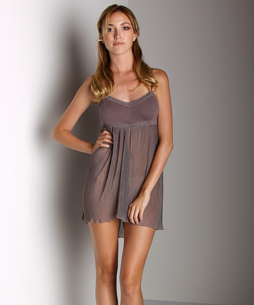 Free People Pleated Slip Mocha