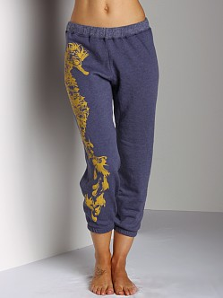 Lauren Moshi Suzy Crop Sweat Pants Navy