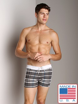 Sauvage Italian Microfiber Banded Swim Trunk Charcoal