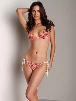 Eberjey Ikat Love Kate Bikini Bottom Tomato