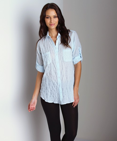 Duck & Weave Button Down Shirt Light Green Blue