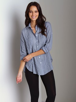 Duck & Weave Button Down Shirt Dark Blue