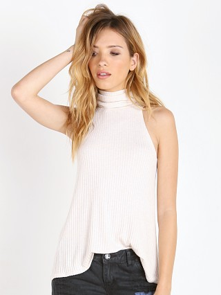 Free People Drippy Rib New City Tank Oatmeal Heather