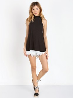 Free People Drippy Rib New City Tank Black