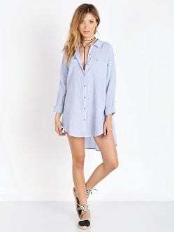 Free People Puckered Check Lover Her Madly Top White Combo