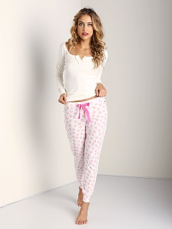 Juicy Couture Angel Kiss Modal Pant Printed