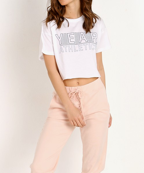 Year of Ours Cropped Year Tee White