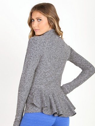 Beyond Yoga Peplum Back Jacket Black Space Dye