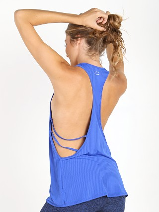 Beyond Yoga Sleek Stripe Low-Cut Tank Lapis