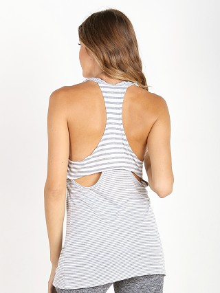 Beyond Yoga Sailing Stripe Tank Grey