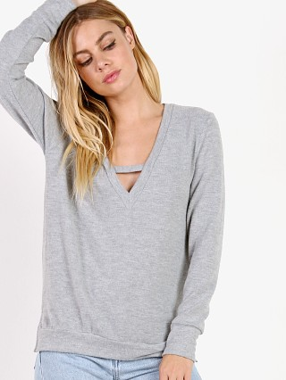 LNA Clothing Vetica Sweater Heather Grey