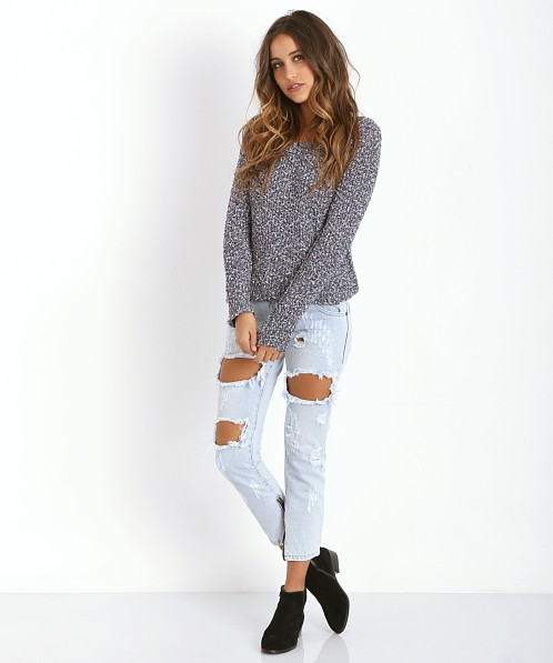 Free People Sahara Star Pull Over Charcoal