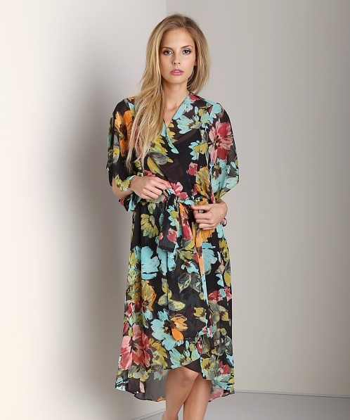 Show Me Your Mumu Mallory Wrap Flower Paint