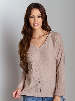 4 Our Dreamers Long Sleeve Pointelle Shirt Sand