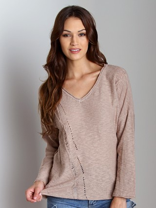 4Our Dreamers Long Sleeve Pointelle Shirt Sand
