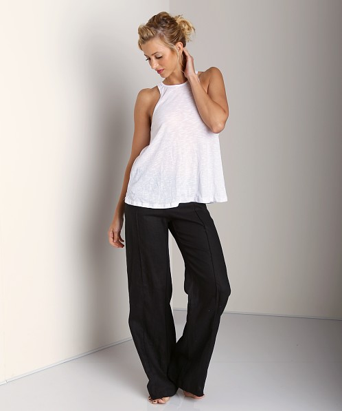 4Our Dreamers Linen Fold Over Pants Black