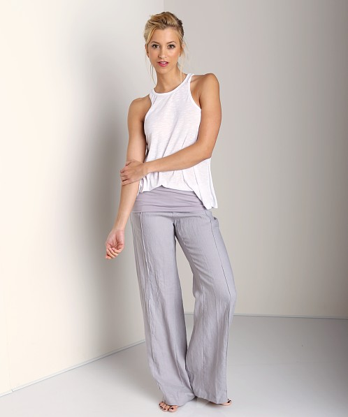 4Our Dreamers Linen Fold Over Pants Gris