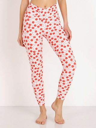 Beach Riot Dotty Legging Cherry