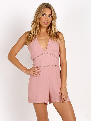 Model in blush Wyldr Cascade Sleeveless Romper