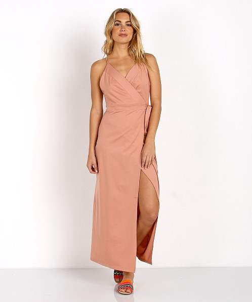 Wyldr Wrap Over Me Dress Blush