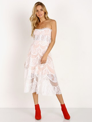 For Love & Lemons X Jamie King La Bella Midi Dress White Lace