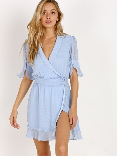 For Love & Lemons X Jamie King La Karla Mini Dress Sky
