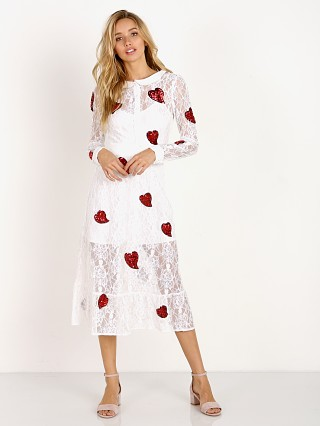 For Love & Lemons X Jamie King La Zosia Midi Dress White