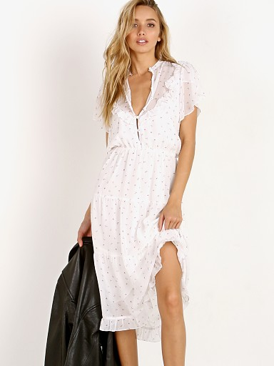 For Love & Lemons X Jamie King La January Midi Dress White