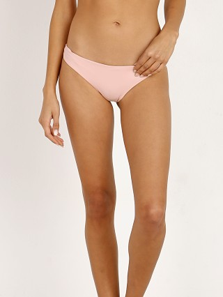 Tori Praver Mimi Shirred Cheeky Bikini Bottom Rose Quartz