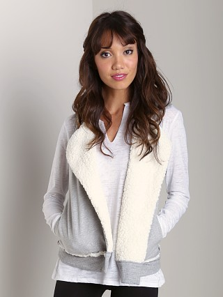 Splendid Reversible Sherpa Vest Heather Grey
