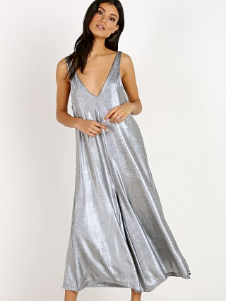 One Teaspoon Rebel Muse Metallic Jumpsuit Silver