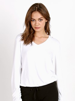 Wildfox Couture Baggy Beach V-Neck Basic Sweater Clean White