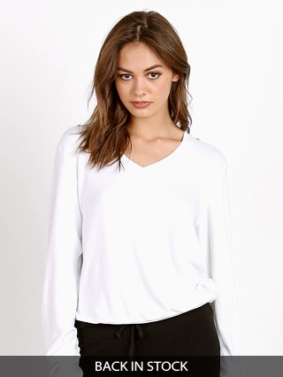 WILDFOX Baggy Beach V-Neck Basic Sweater Clean White