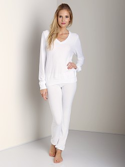 WILDFOX Malibu Skinny Basic Pants Clean White