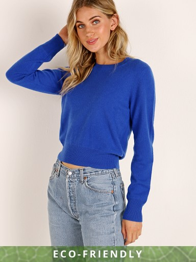 NAADAM Cashmere Long Sleeve Pullover Lapis