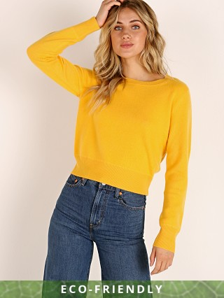 NAADAM Cashmere Long Sleeve Pullover Butternut Yellow