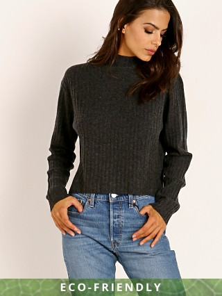 NAADAM Cashmere Ribbed Turtleneck Smoke