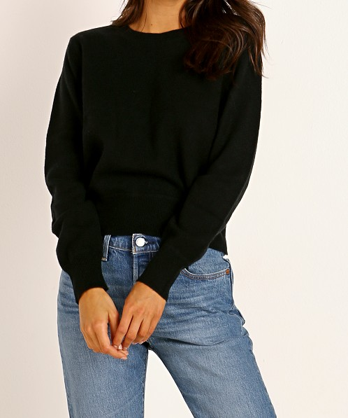 NAADAM Cashmere Long Sleeve Pullover Black
