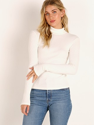 LACAUSA Sweater Rib Turtleneck Panna Cotta