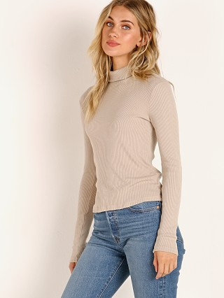 LACAUSA Sweater Rib Turtleneck Oatmeal