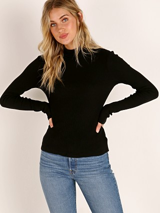 LACAUSA Sweater Rib Turtleneck Tar
