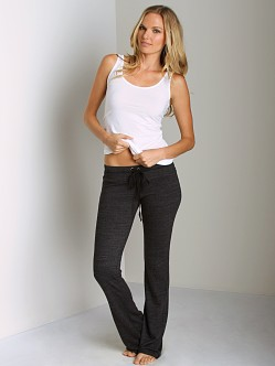 Splendid Always Active Fleece Drawstring Pant Black