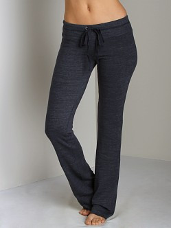 Splendid Always Active Fleece Drawstring Pant Navy