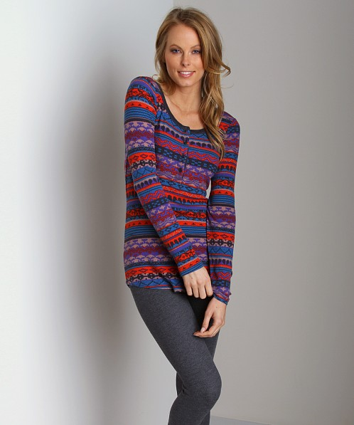 Splendid Thermal Long Sleeve Grenadine