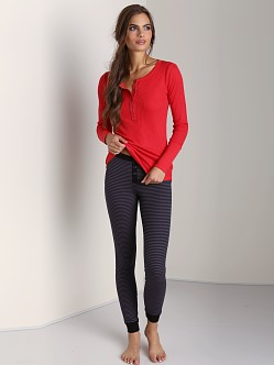 Splendid Skinny Stripe Legging Dark Slate